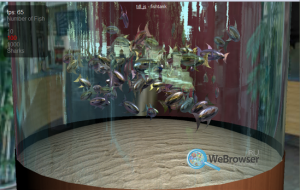 The WebGL aquarium