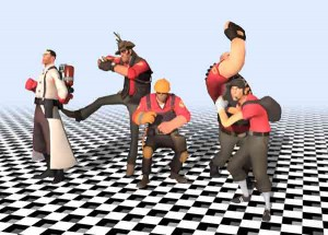 three.js webgl - skinning [team fortress 2]